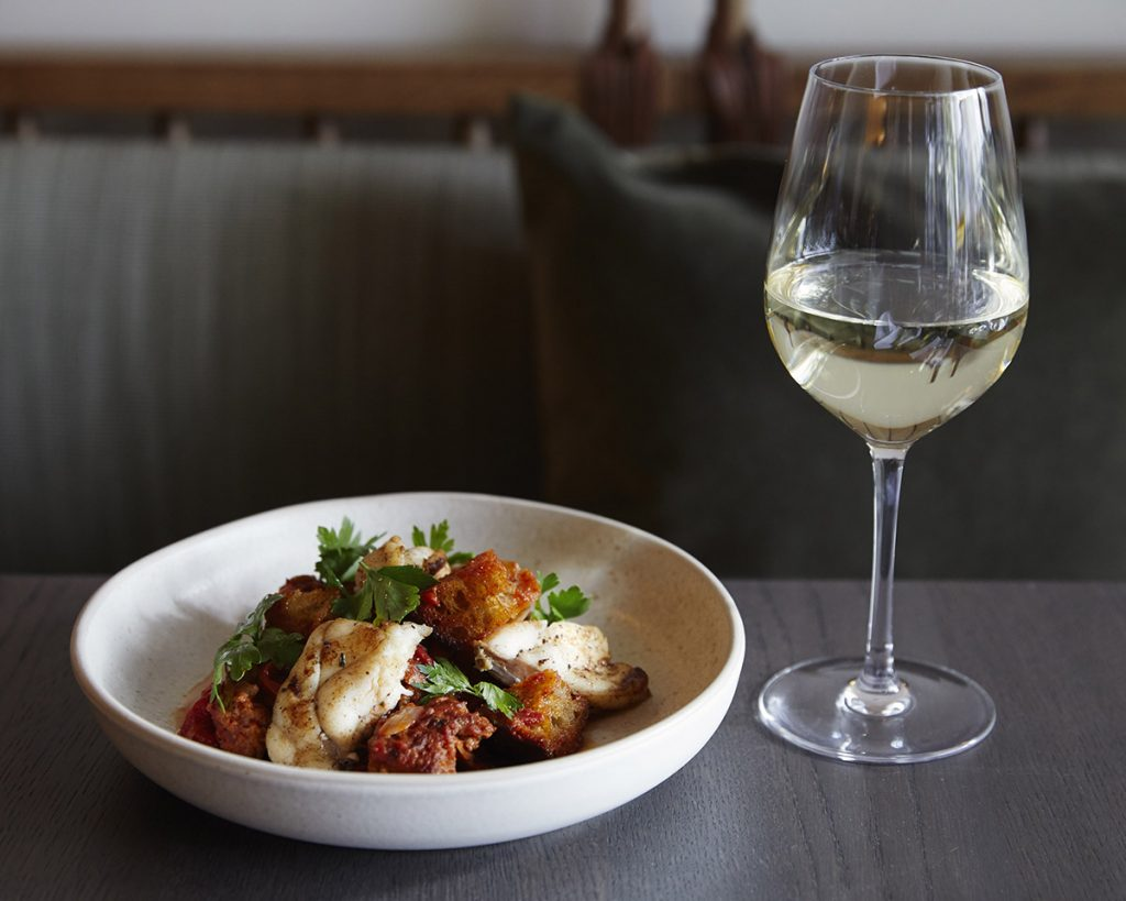 Monkfish, Braised Red Peppers and Fresh Chorizo dinner ideas
